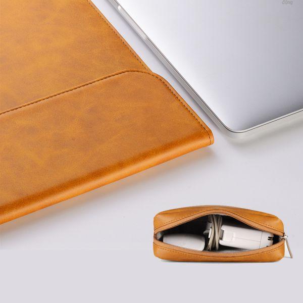 Bao Da Kèm Túi Đựng Sạc Macbook Cao Cấp Reimoer (T015)