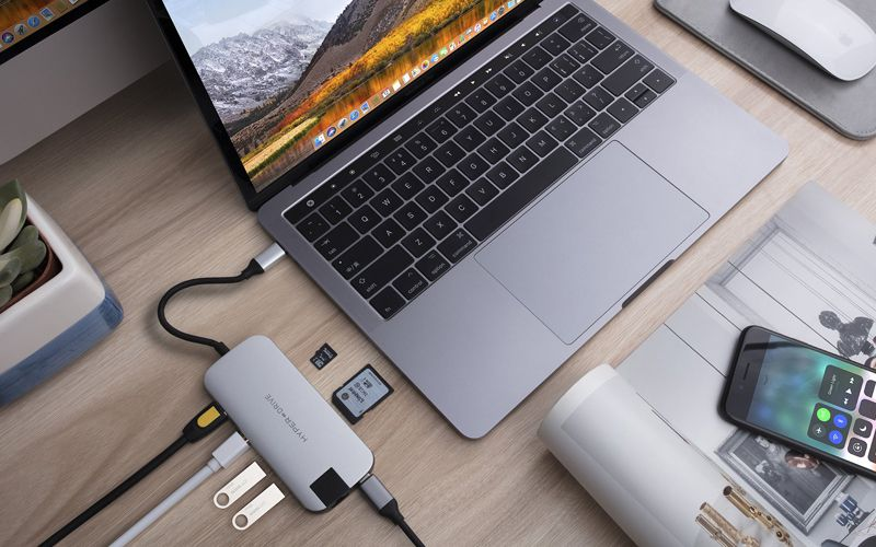 Cổng Chuyển Hyperdrive SLIM USB-C Multi Port Hub for MacBook, PC & Devices