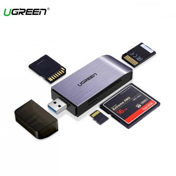 Đầu Đọc Thẻ Nhớ USB 3.0 Hỗ Trợ thẻ TF,SD,CF,MS Ugreen (50541)