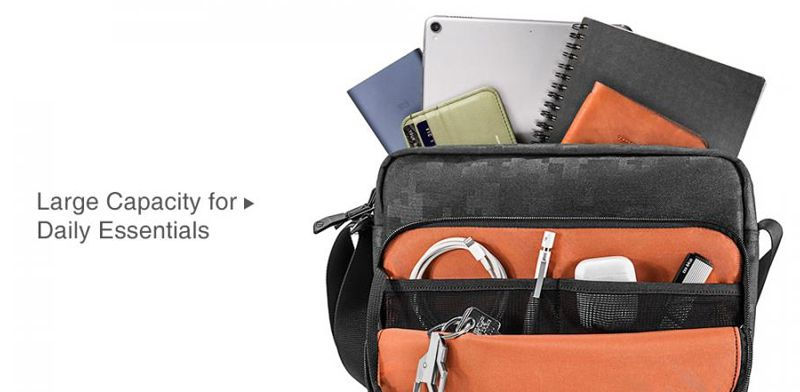 Túi đeo chéo Tomtoc Functional iPad/Tablet 7-11' Kiểu Dọc