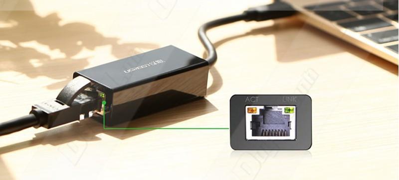 Cáp USB Type-C to LAN Ugreen (50307)