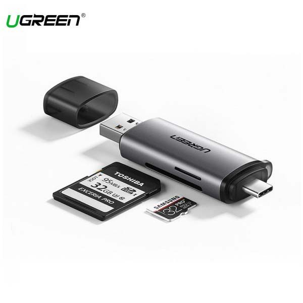 Đầu Đọc Thẻ TF, SD Chân Cắm USB-C & USB Ugreen (50706)