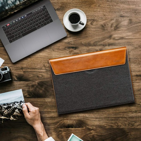 Túi Chống Sốc Tomtoc Premium Leather (H15)
