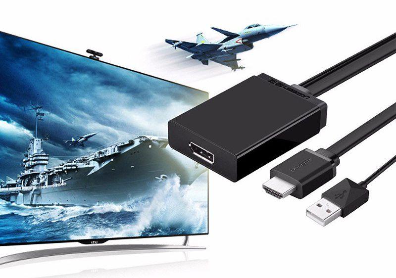 Cáp HDMI + USB Sang Displayport Hỗ Trợ 4K*2K Ugreen (40238)