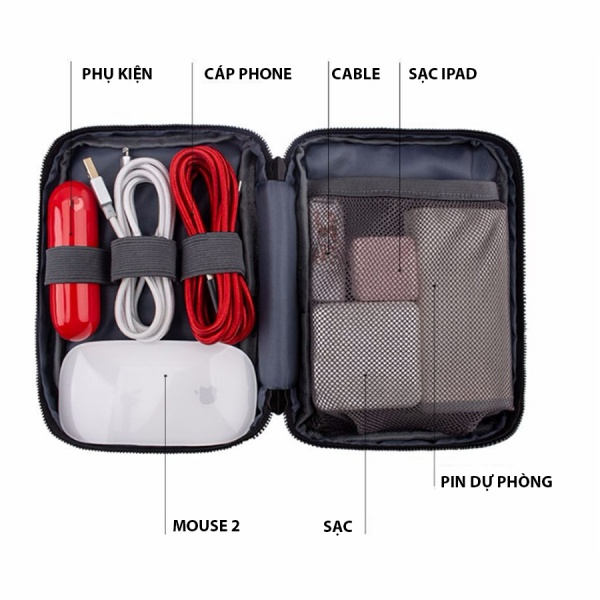 túi đựng sạc macbook