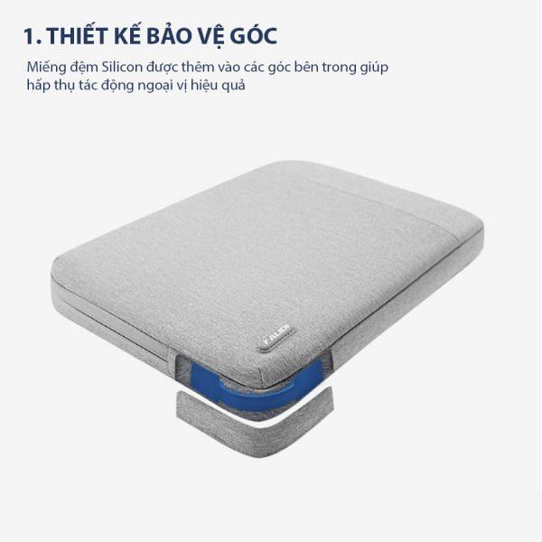 túi chống sốc laptop màu xám