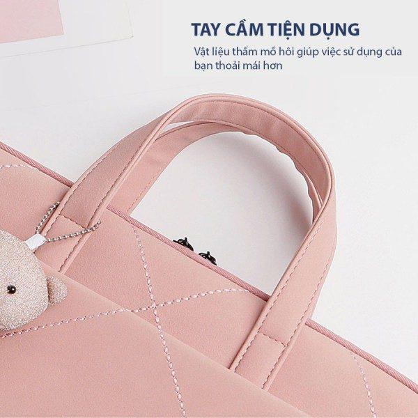 túi chống sốc laptop màu hồng