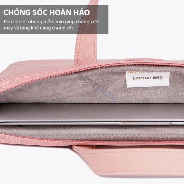 túi chống sốc cao cấp màu hồng